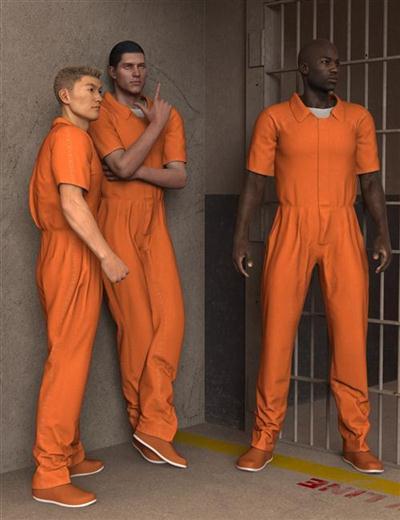 DAZ3D - POSER - Prison Clothes for Genesis 2 Males