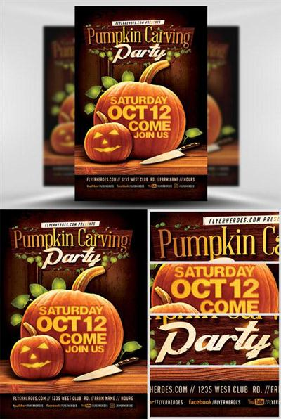 Flyer Template - Fall Pumpkin Carving