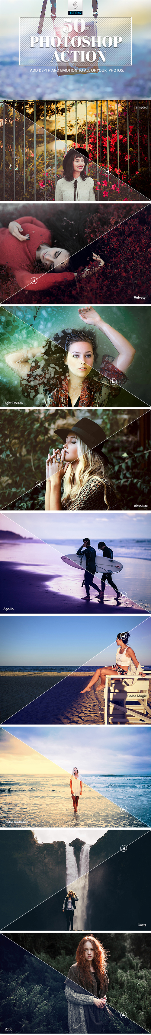 GraphicRiver - 50 Photoshop Actions 18297650