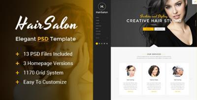 Hair Salon - Elegant PSD Template 14938697