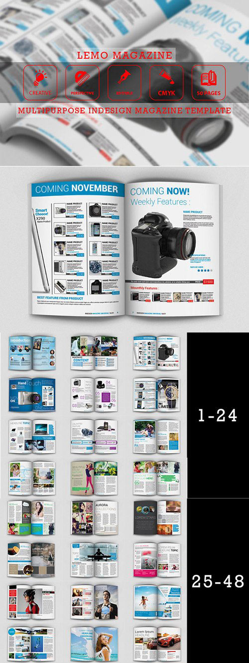 Lemo - Indesign Magazine Templates