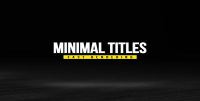 Minimal Titles Pack 18237383 - Project for After Effects (Videohive)