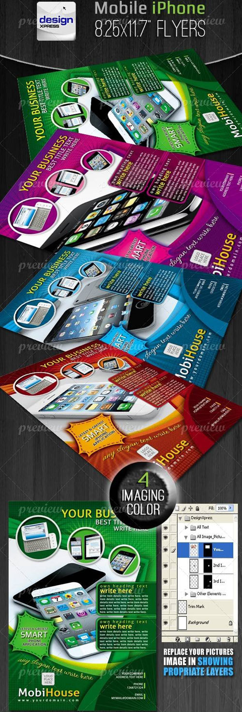 Mobile iPhone Application Flyers/Adds