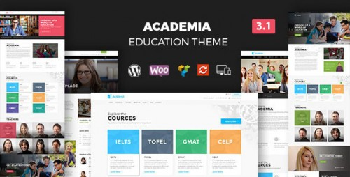Nulled Academia v3.2.1 - Responsive Education Theme For WordPress product image