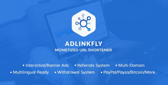 AdLinkFly v3.2.0 - Monetized URL Shortener