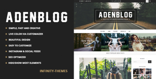 Nulled Aden v2.6 - Responsive WordPress Blog Theme