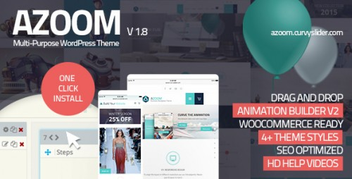 Nulled Azoom v1.8 - Multi-Purpose Theme with Animation Builder product image