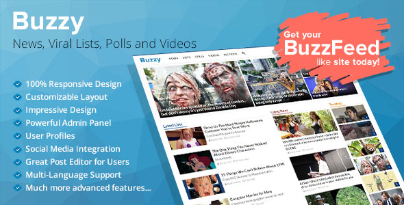 Buzzy v2.0 - News, Viral Lists, Polls and Videos