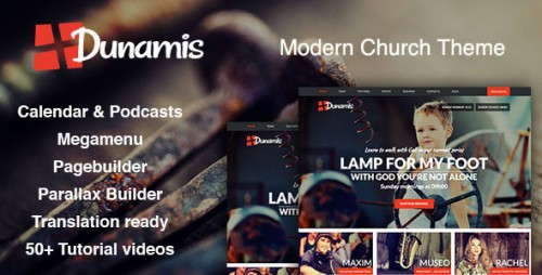 Nulled Dunamis - Modern Church theme - WordPress photo