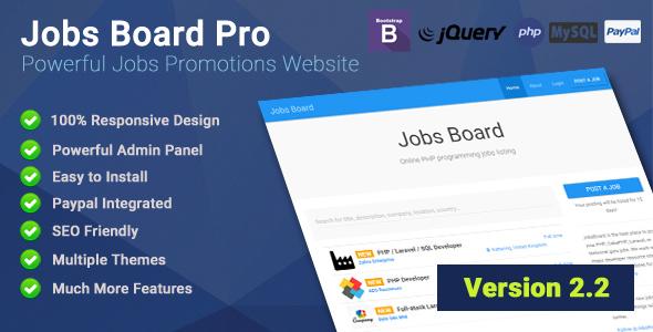 Jobs Board Pro v2.2