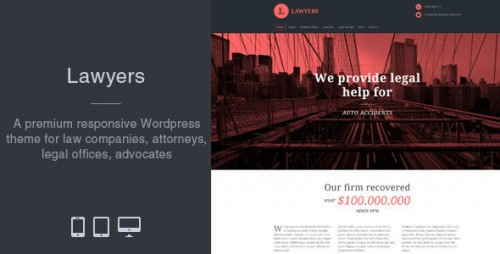 Nulled Lawyers v2.1.0 - Responsive Business WordPress Theme
