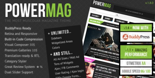 Nulled PowerMag v1.9.9 - The Most Muscular Magazine Reviews Theme cover