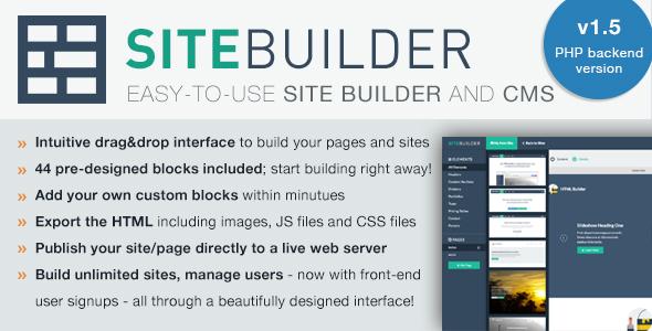 SiteBuilder Lite v1.5 - Drag&Drop site builder and CMS