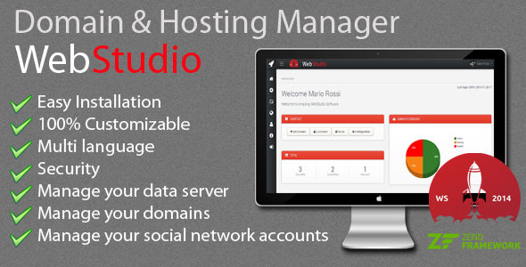 Web Studio - Domain & Hosting Manager
