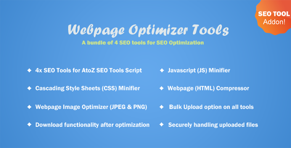 Webpage Optimizer Tools for A to Z SEO Tools