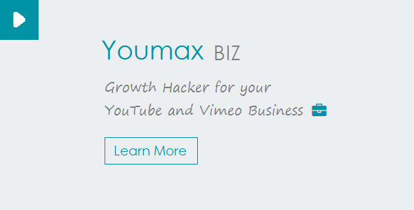 Youmax v2 - Grow your YouTube and Vimeo Business