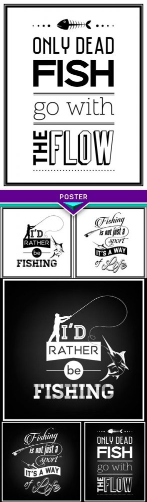 Poster, Fishing is not just a sport, it's a way of life 6X EPS
