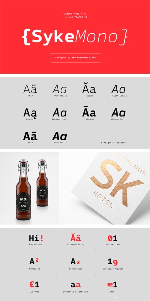 Syke Mono Font Family