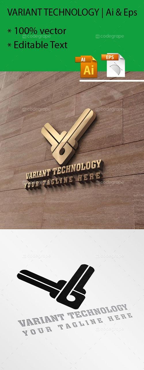 Variant Technology / V Letter Logo