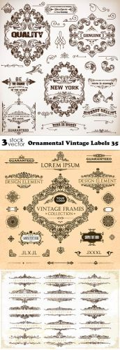 Vectors - Ornamental Vintage Labels 35