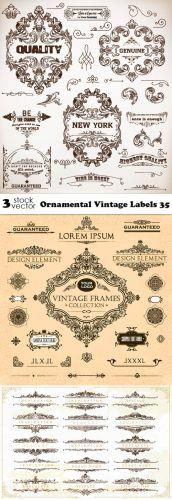 Vectors - Ornamental Vintage Labels 35
