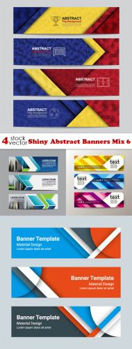 Vectors - Shiny Abstract Banners Mix 6