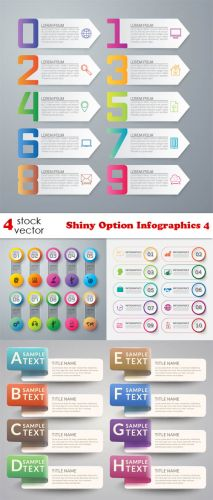 Vectors - Shiny Option Infographics 4
