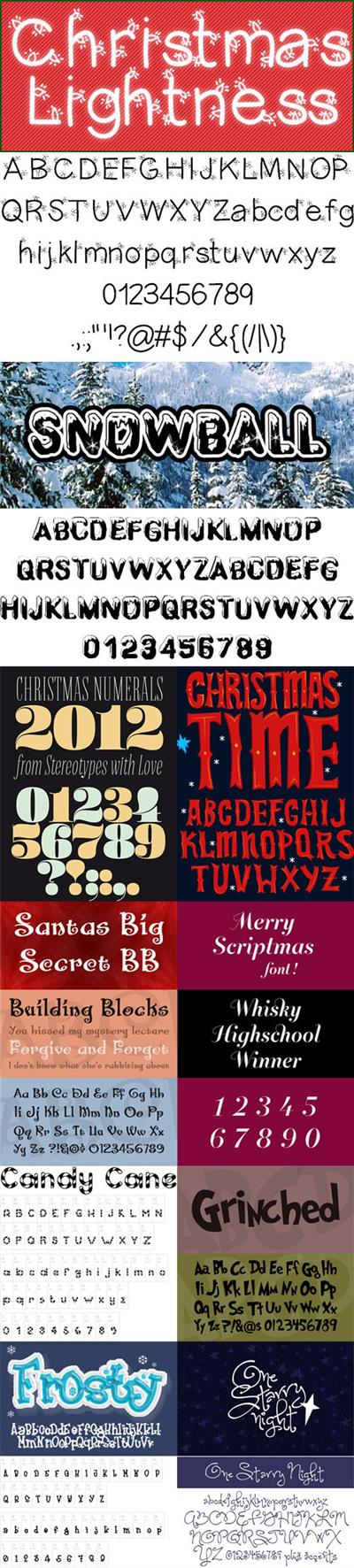 10 Christmas Fonts - 2017 Festive Holiday Fonts