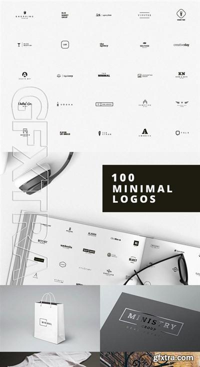 100 Minimal Logos - Premium Edition