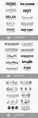 30 Fonts Collection - Cartoon, Summer and Easter