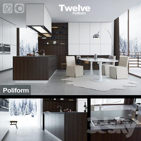 3DSky - Kitchen Poliform Varenna Twelve (vray + corona)