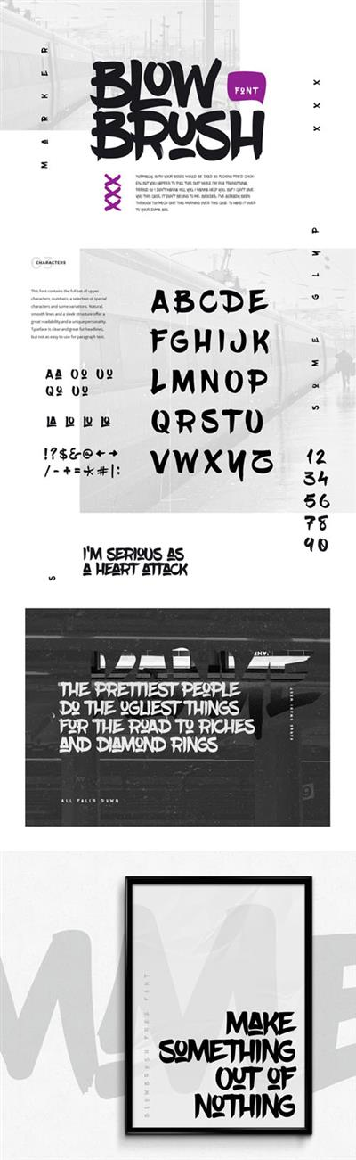 BlowBrush Hand-Written Font OTF