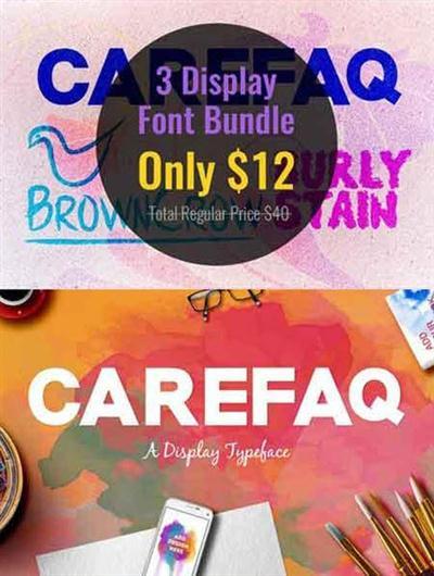 CreativeMarket - 3 Display Font Bundle