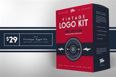 CreativeMarket - Vintage Logo Kit PRO