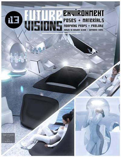 DAZ3D i13 Future VISIONS Environment and Poses