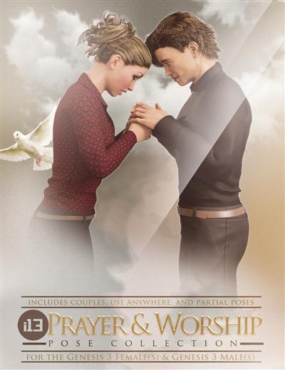 DAZ3D - i13 Prayer and Worship Poses
