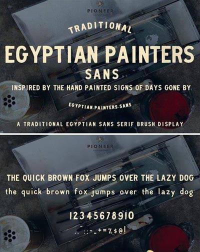 Egyptian Painters Sans 1013225