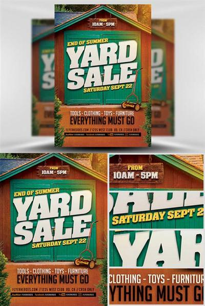 Flyer Template - End Of Summer Yard Sale
