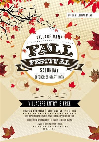 Flyer Template - Fall Festival Vol 2 + Facebook Cover