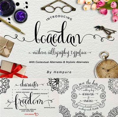 Font - Boaedan Script