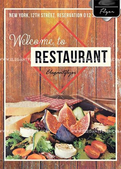 Food Restaurant PSD V7 Template + Facebook cover