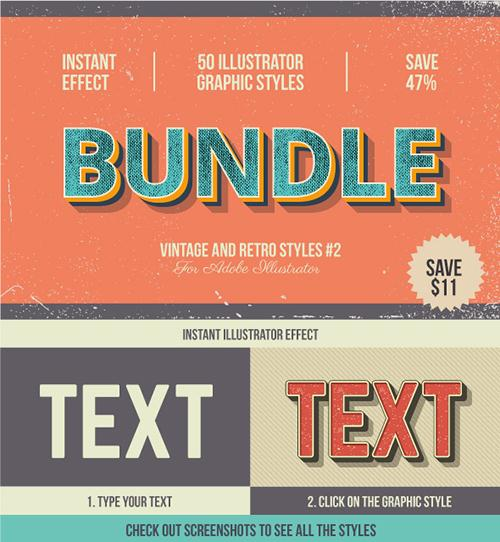 GraphicRiver - Bundle-Vintage and Retro Styles #2 17101552