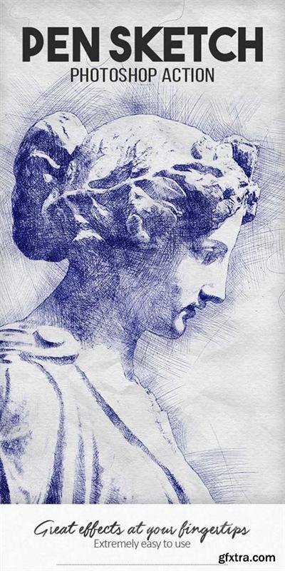 GraphicRiver - Pen Sketch Photoshop Action - 18522026