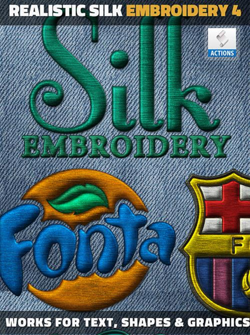 GraphicRiver - Silk Embroidery Effect Photoshop Action