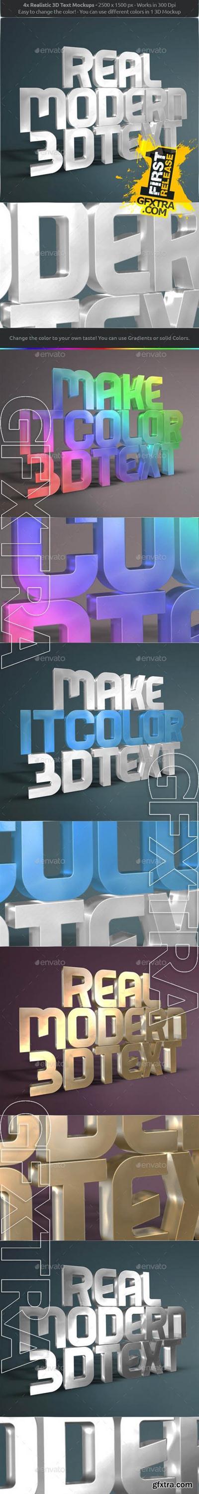 Graphicriver Real 3D Text Mockups V2 8888843