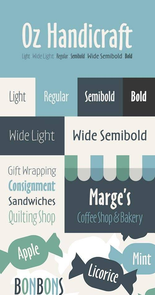 Handicraft fonts