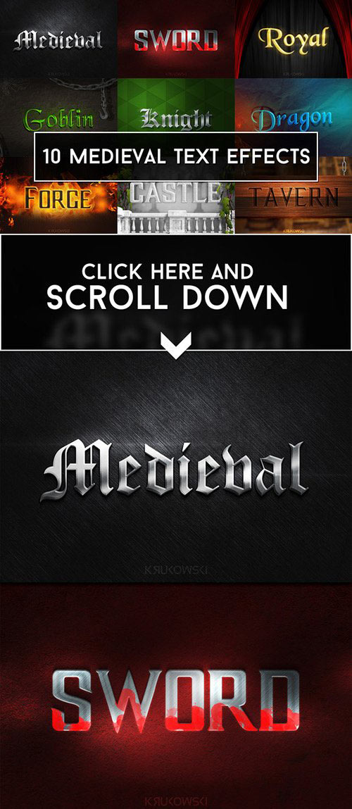 Medieval Text Effects