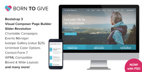 Nulled Born To Give v1.7.1 - Charity Crowdfunding Theme product picture