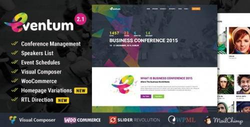 Nulled Eventum v2.1 - Conference & Event WordPress Theme visual