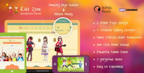 Nulled Kids Zone v3.4 - Themeforest Responsive Children Theme